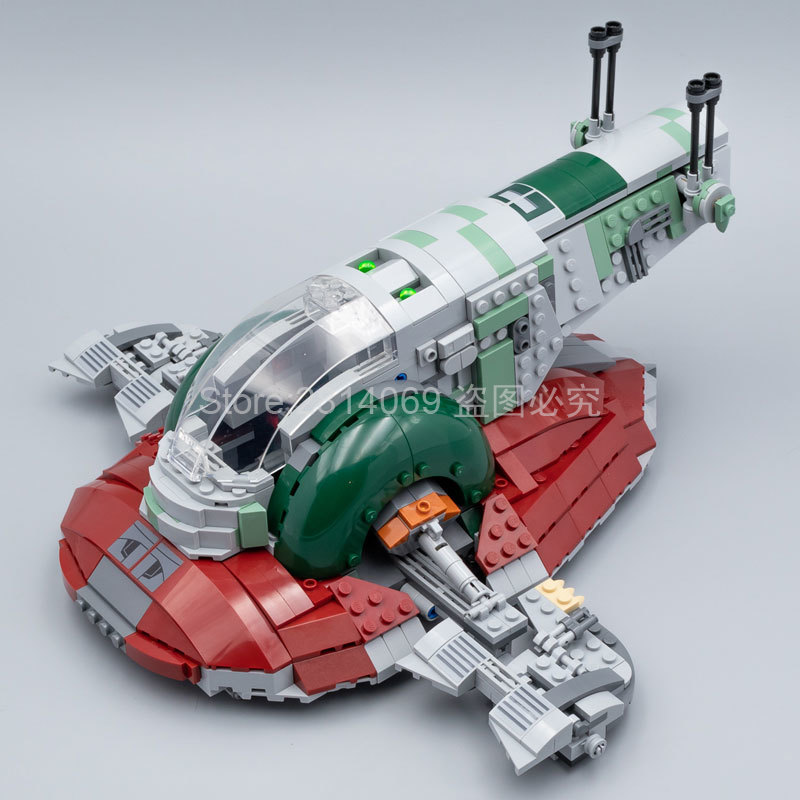 05037 The Genuine UCS Slave I Slave NO.1 Mobile 2067Pcs Building Block Bricks Toys Star Wars Movie 75060