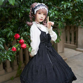 2019 Sweet Corduroy Lolita Dress Thick High Waist Sleeveless Dress - DISCOUNT ITEM  40% OFF All Category