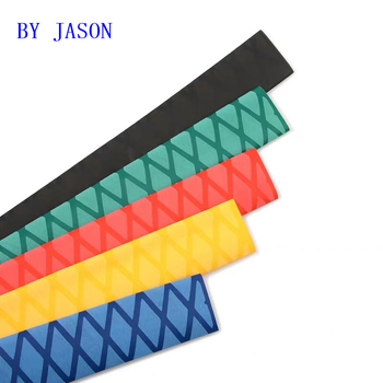 Antypoślizgowa folia termokurczliwa wędka DIY 5 kolorów 1M uchwyt izolacja wodoodporna rączka rakietki Grip tanie i dobre opinie 2 1heat shrink tube Termokurczliwe