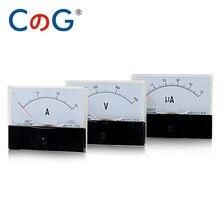44C2 DC Analógico Painel Amperímetro Medidor 1mA 2mA 3mA 5mA 10mA 20mA 30mA 50mA 75mA 100mA 200mA 300mA 500mA Ampere medidor Medidor de Corrente