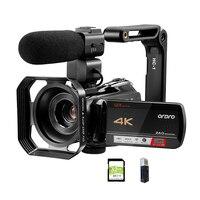 Vlogging-cámara profesional de vídeo 4K, videocámara para YouTube, Blogger, Ordro AC5, Zoom óptico 12X, cámaras fotográficas digitales