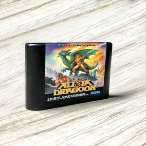 Image 1 - Alisia dragoon eur etiqueta flashkit md electroless ouro pcb cartão para sega genesis megadrive console de jogos de vídeo