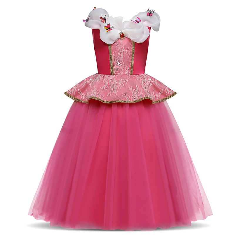 Princess Cosplay Costume Dresses For Girls Party Clothing Kids Children Dress Up 3