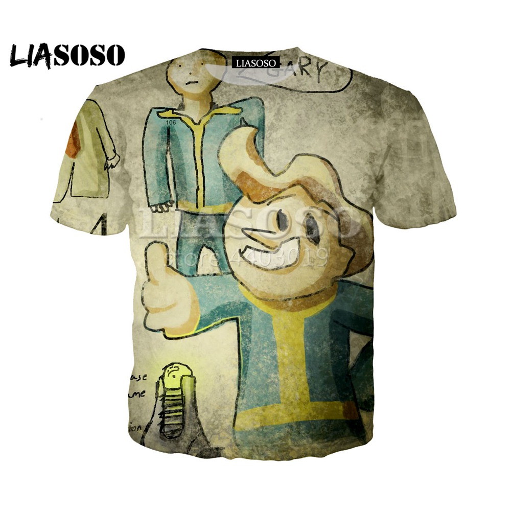 3D Printing 2019 Summer New harajuku T-shirt Fallout Game Character t shirts clothes Men and women top trousers men Clothing image