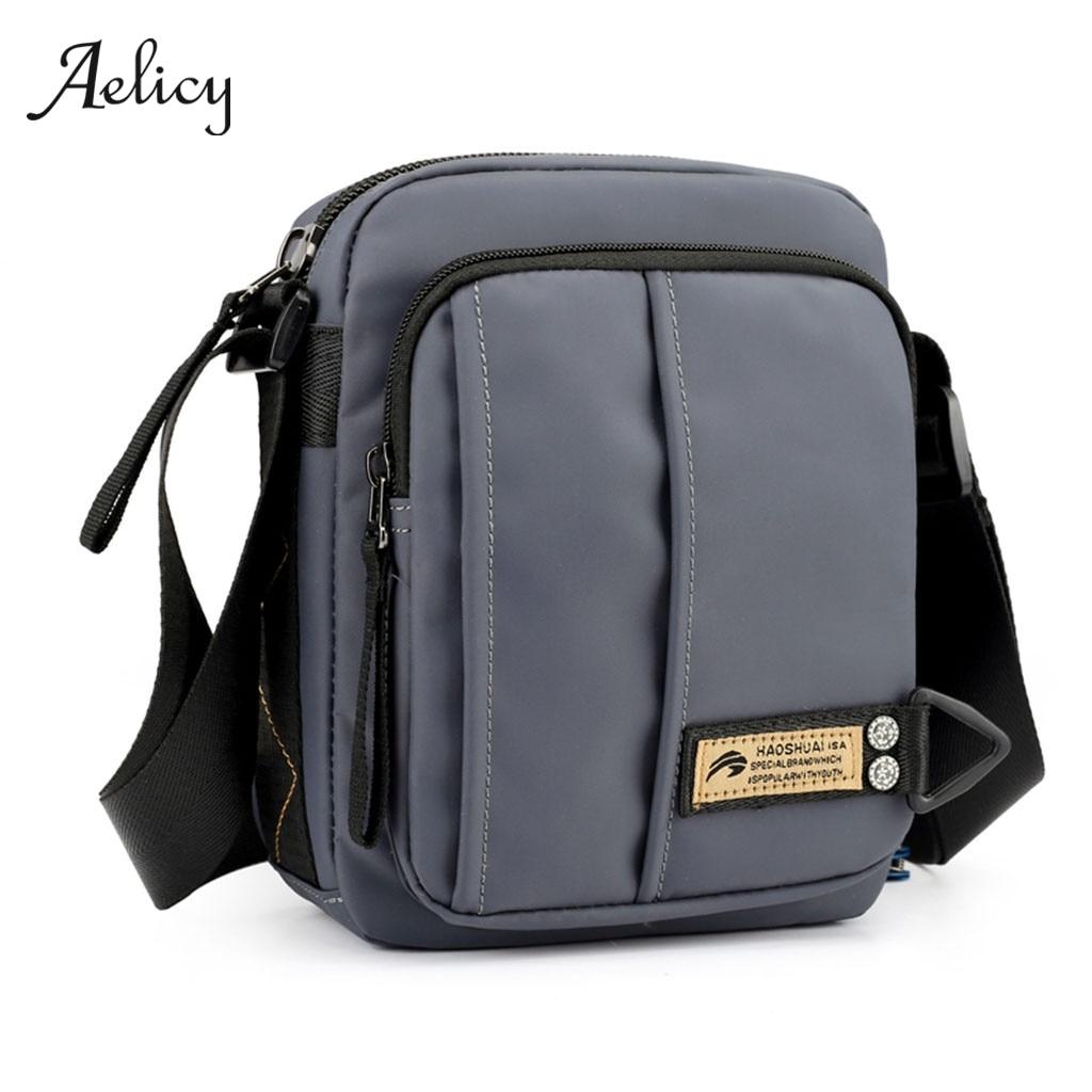 Mens Army Canvas Travel Satchel School Hiking Cross Body Shoulder Messenger Bag