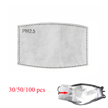 Filtre à charbon PM2.5 50/100 pièces/lot