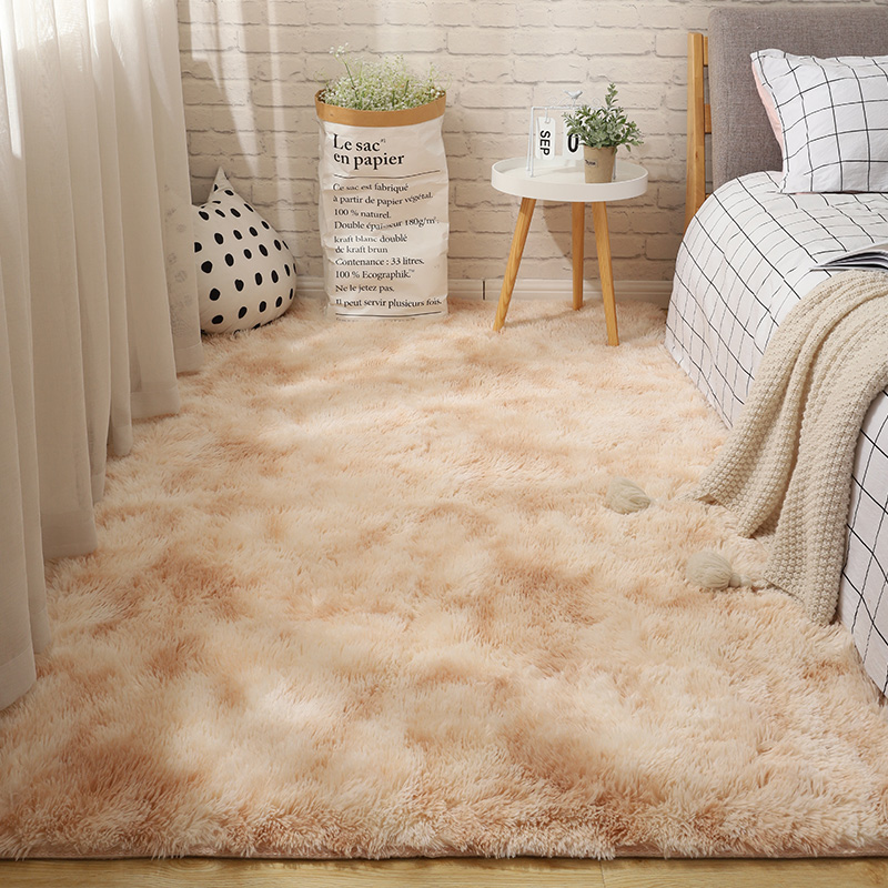Fluffy Tie Dye Carpets For Bedroom Decor Modern Home Floor Mat Large Washable Nordica in the Living Room Soft White Shaggy Rug 19