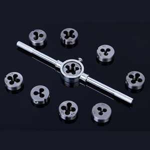 Image 5 - 20/40pcs tap die set M3 M12 Screw Thread Metric Taps wrench Dies DIY kit wrench screw Threading hand Tools Alloy Metal with bag