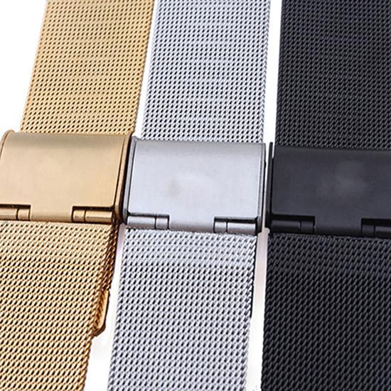 Watch Strap Men Watch Band Strap Stainless Stell Deployment Clasp Band 18mm 20mm 22mm 24mm Watch Mesh Replacement Watch Band