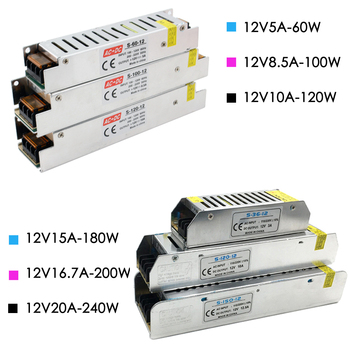 24 V DC 12 V voltios transformadores de iluminación 12 V 24 V fuente de alimentación 12 V LED conductor adaptador de potencia transformadores de iluminación conductor Led voltios