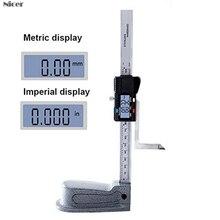 Digital Height Gauge 0-150mm 0.01mm Mini Stainless Steel Electronics Marking Gauge Measure