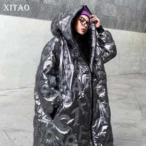 Куртка XITAO Женская, с принтом в виде букв, 2019