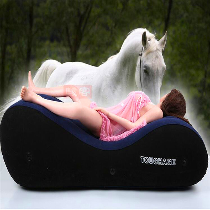 Toughage Inflatable <font><b>Sex</b></font> Sofa Bed Chair Sets PVC Flocking Adult Love Game Toys For Couples Sexy <font><b>Air</b></font> <font><b>Pillow</b></font> Sofas <font><b>Sex</b></font> Furnitures image