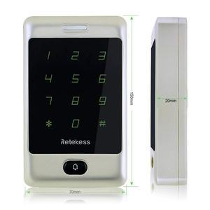 Image 2 - Retekess 2 шт. T AC01 RFID Контроль доступа сенсорная клавиатура система контроля допуска к двери 125 кГц KDL металлический чехол Корпус подсветка F9503D