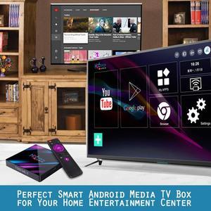 Image 2 - TV BOX H96MAX Android 9.0 Smart TV BOX Rockchip RK3318 4GB+32GB H.265 4K Google media player H96 MAX Set Top Box PK X96 hk1 max