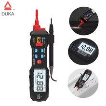New DUKA LCD Digital Multimeter Pen Esr Meter Testers Automotive Sound Light Alarm Detection Tester Meter High Precision