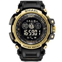 Men Digital Wrist watches LED Display SMAEL Watch for male Digital clock Men Sport Watches Big Dial 8018 Wtaerproof Men Watches