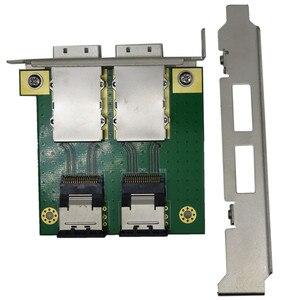 Image 3 - רכיבי מחשב עבור פנימי SFF 8087 36P כדי 2 נמל חיצוני HD sas26P SFF 8088 מול פנל PCI SAS כרטיס מתאם לוח