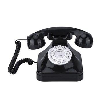Винтажный телефон Многофункциональный пластиковый домашний телефон Ретро старомодный телефон проводной стационарный телефон офисный дом...