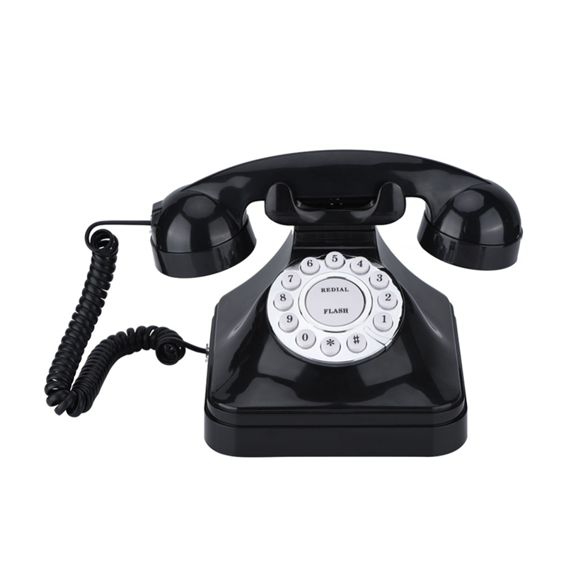 Vintage Telephone Multi Function Plastic Home Telephone Retro Antique Phone Wired Landline Phone Office Home Telephone Desk Deco