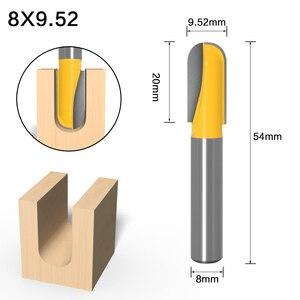 Image 5 - 1PC8mm 샹크 CNC 초경 엔드 밀 도구 긴 블레이드 라운드 코 비트 코어 박스 라우터 비트 긴 도달