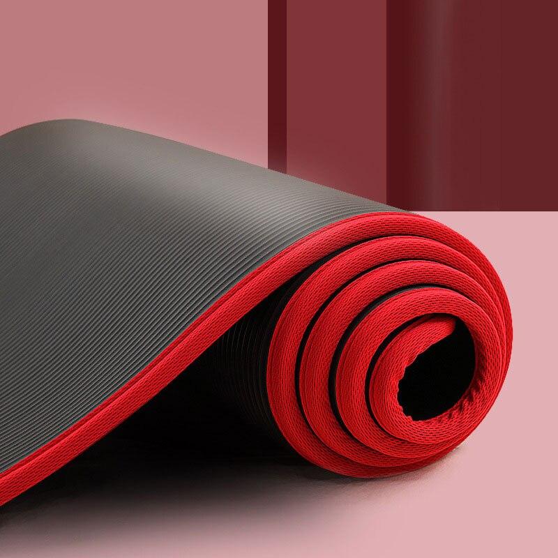 Нескользящий коврик для Йоги (183х61х1 см/4 цвета) из БНК + ремешок