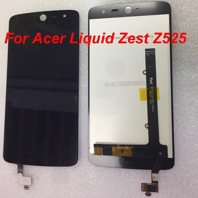"""الأصلي LCD ل 5.0 """"Acer السائل تلذذ Z525 Z528 T06 T07 15 22251 60561 شاشة LCD عرض + محول رقمي يعمل باللمس مع أداة"""