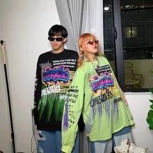 Tees Women T-Shirts Punk-Tops Hip-Hop-Clothing Long-Sleeve Korean Streetwear Nicemix
