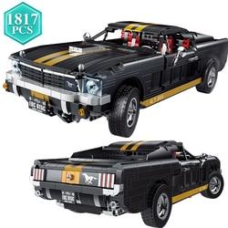 1817pcs Ideas Technic Ford Phantom Steed Simulation Car Building Blocks Static Car Bricks Model Toys Boys Birthday Gift