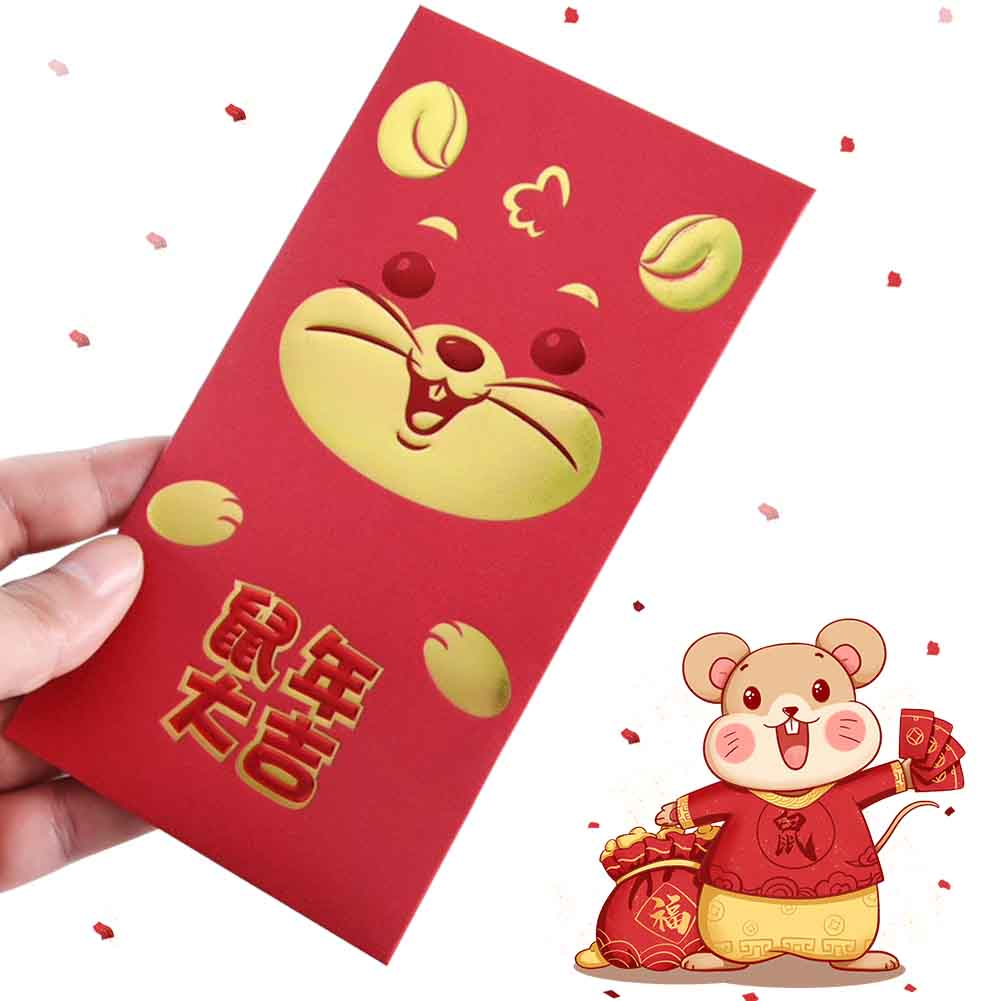30pcs 2020 Chinese New Year Red Envelopes Spring Festival Birthday Wedding Paper Cute Traditional Housewarming Rat Packet Lucky