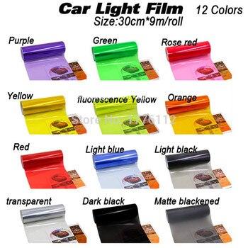 Wholesales Size:30cm*9m/roll Glossy transparent lamp film Car Light Headlight Taillight Tint Vinyl Film Sticker Sheet Car Light