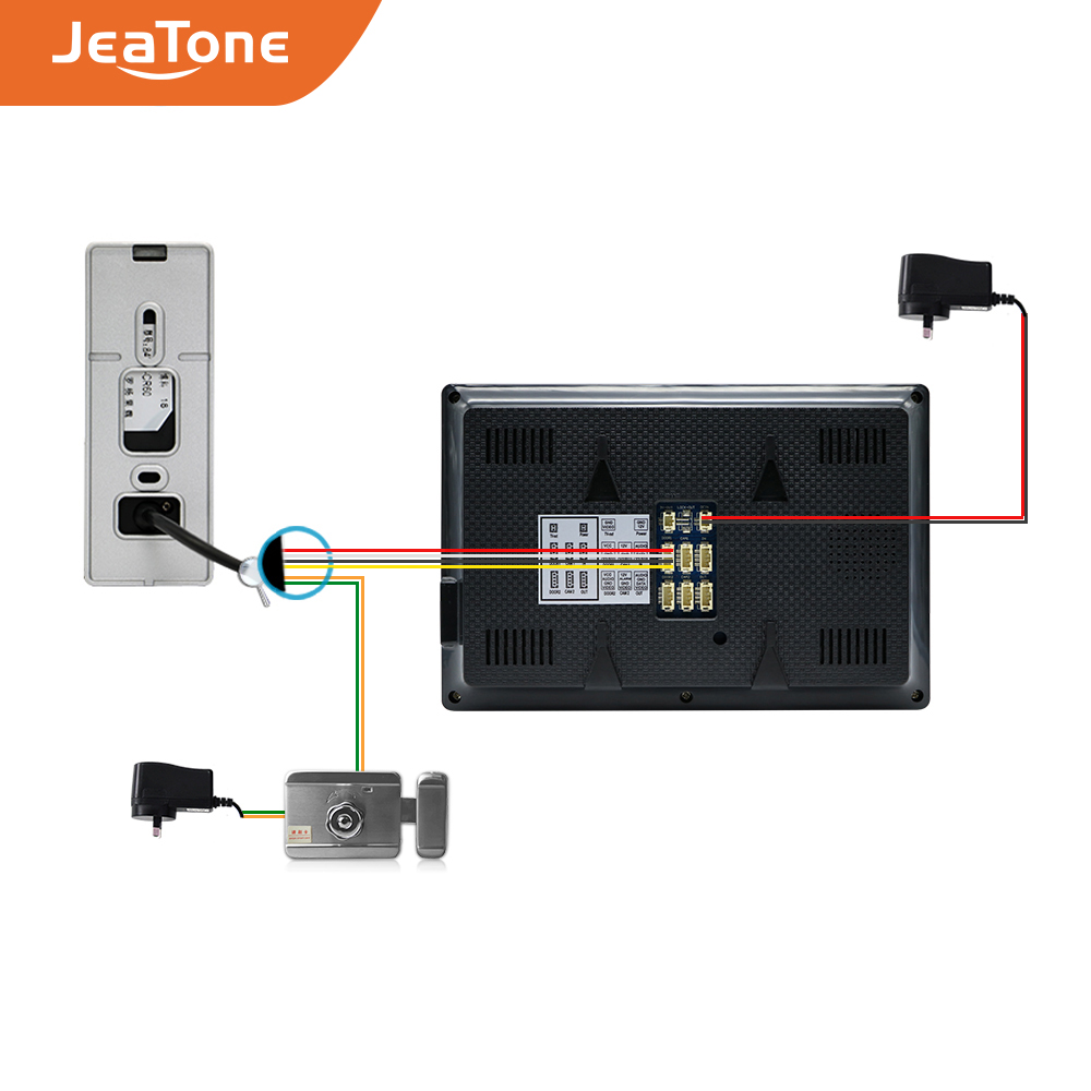 Купить с кэшбэком JeaTone 4-Wired Video Door Phone call panel 1200TVL Outdoor Doorbell IP65 Waterproof 3.7MM lens Call Panel Video IR Night Vision