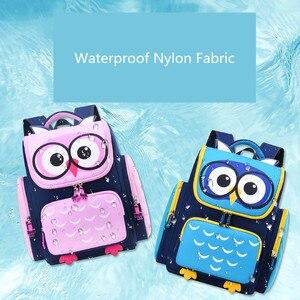 Image 2 - OKKID ילדי בנות חמוד waterproof בעלי החיים תרמיל ילקוט ילדים ורוד ספר תיק יסודי בית ספר תרמיל
