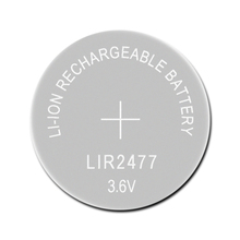 Li ion şarj edilebilir pil LIR2477 3.6V 1 adet lityum düğme dahili madeni para piller izle hücreleri LIR 2477 yerine CR2477