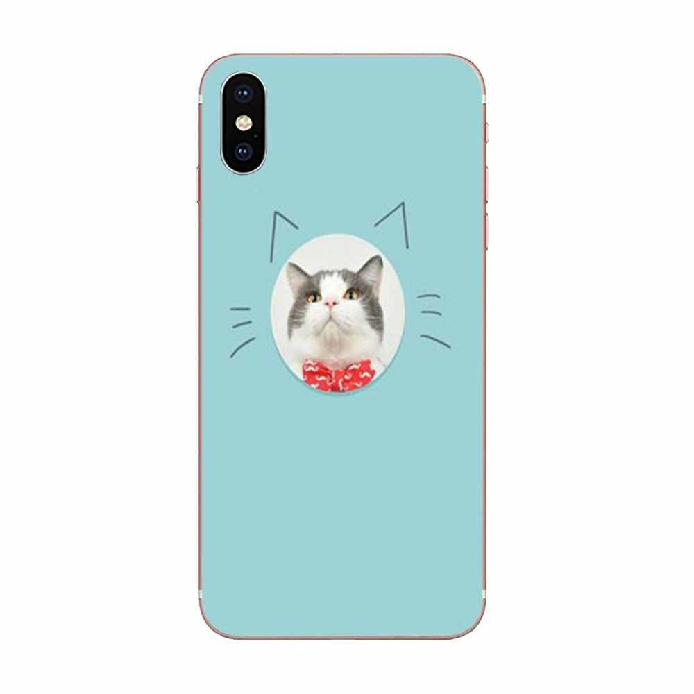 Coque Shell โทรศัพท์กรณีน่ารัก Emoji แมว Mew สำหรับ Xiao mi mi 3 mi 4 mi 4C mi 4i mi 5 mi 5S 5X6 6X8 SE Pro Lite A1 Max mi x 2 หมายเหตุ 3 4