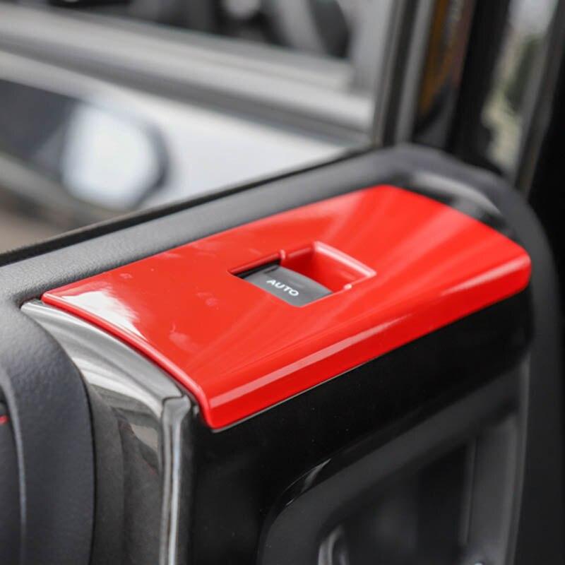 For toyota 4runner 4 runner window glass lift button sticker knob decorative trim cover frame interior accessories 2010 2019