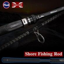 TSURINOYA Long Casting Fishing Rod TYRANTS Inshore 2 Sections Sea Bass Lure Rod 2.4m 2.7m FUJI Guide Rings Reel Seat