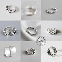 Open-Rings Jewelry LETTER Punk Gifts Metal Silver-Color Design Vintage Women Party