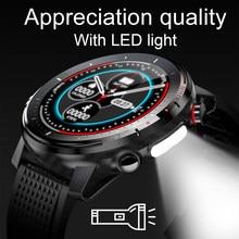 Lige novo ip68 à prova dip68 água relógio inteligente homem ecg freqüência cardíaca monitor de pressão arterial led lanterna esportes fitness rastreador smartwatch