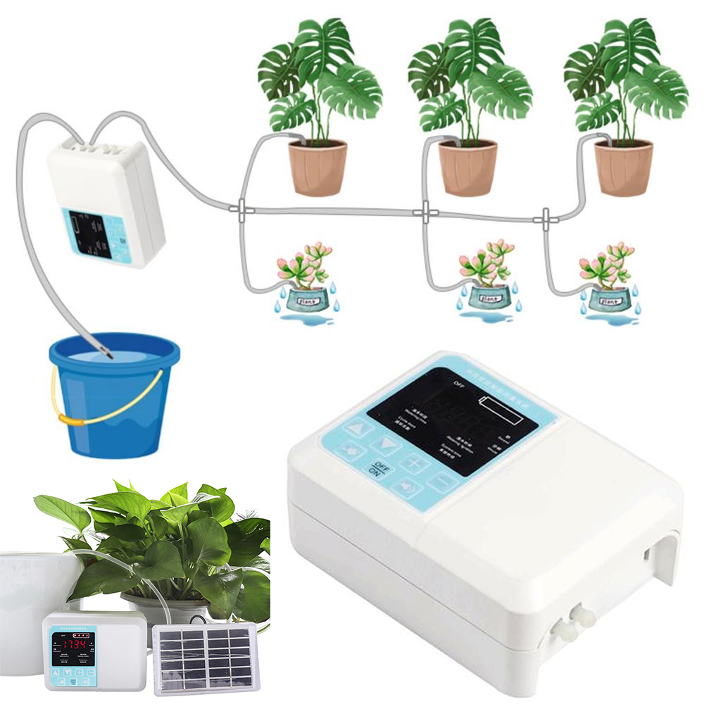 Solar Garden Automatic Watering Device Solar Energy Charging Intelligent Water Pump Timer System Potted Plant Drip Irrigation