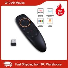 G10 hava fare ses kontrolü ile 2.4G USB alıcı Gyro algılama Mini kablosuz akıllı uzaktan Android TV kutusu X96mini akıllı tv