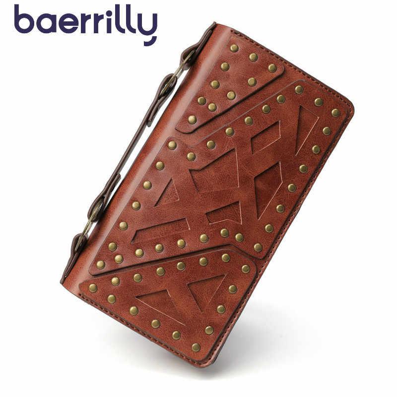 2020 Rivet Wanita Dompet dengan Ponsel Case Tinggi Kapasitas RFID Pemegang Kartu Wanita Dompet Panjang Tas Genggam Dompet dan tas Pesta