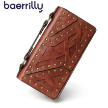 2020 Rivet Women Wallets With Phone Case High-capacity Rfid