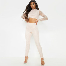 Fashion Two Piece Set Top and Pants Womens Autumn Wave Point Shirt Trousers Two-piece Long Sleeve O-neck Tracksuit