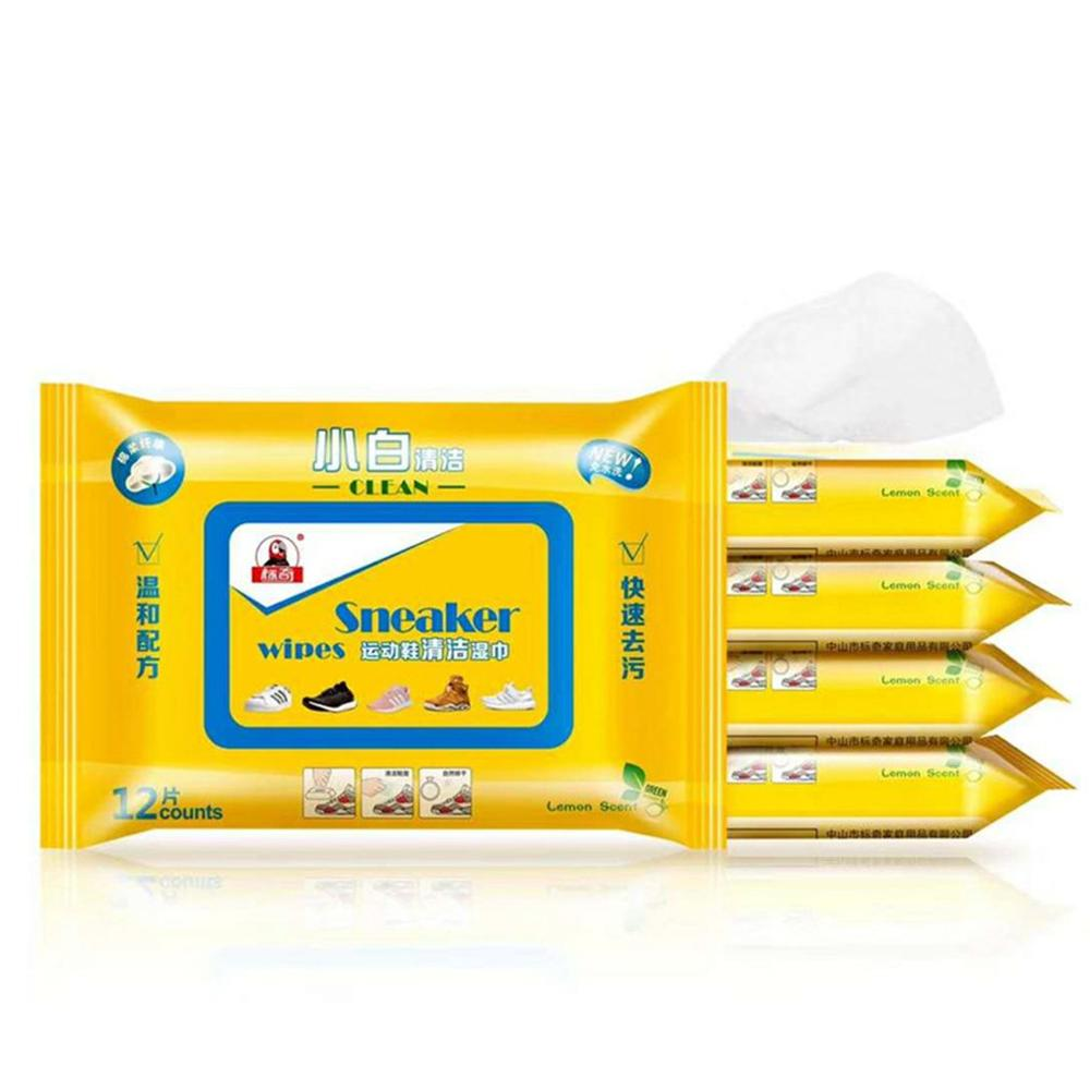Hot Cleaning Wipes Sneakers Leather Shoes Wipes Without Irritating Free Of Water Decontamination And Maintenance Soft Spunlace