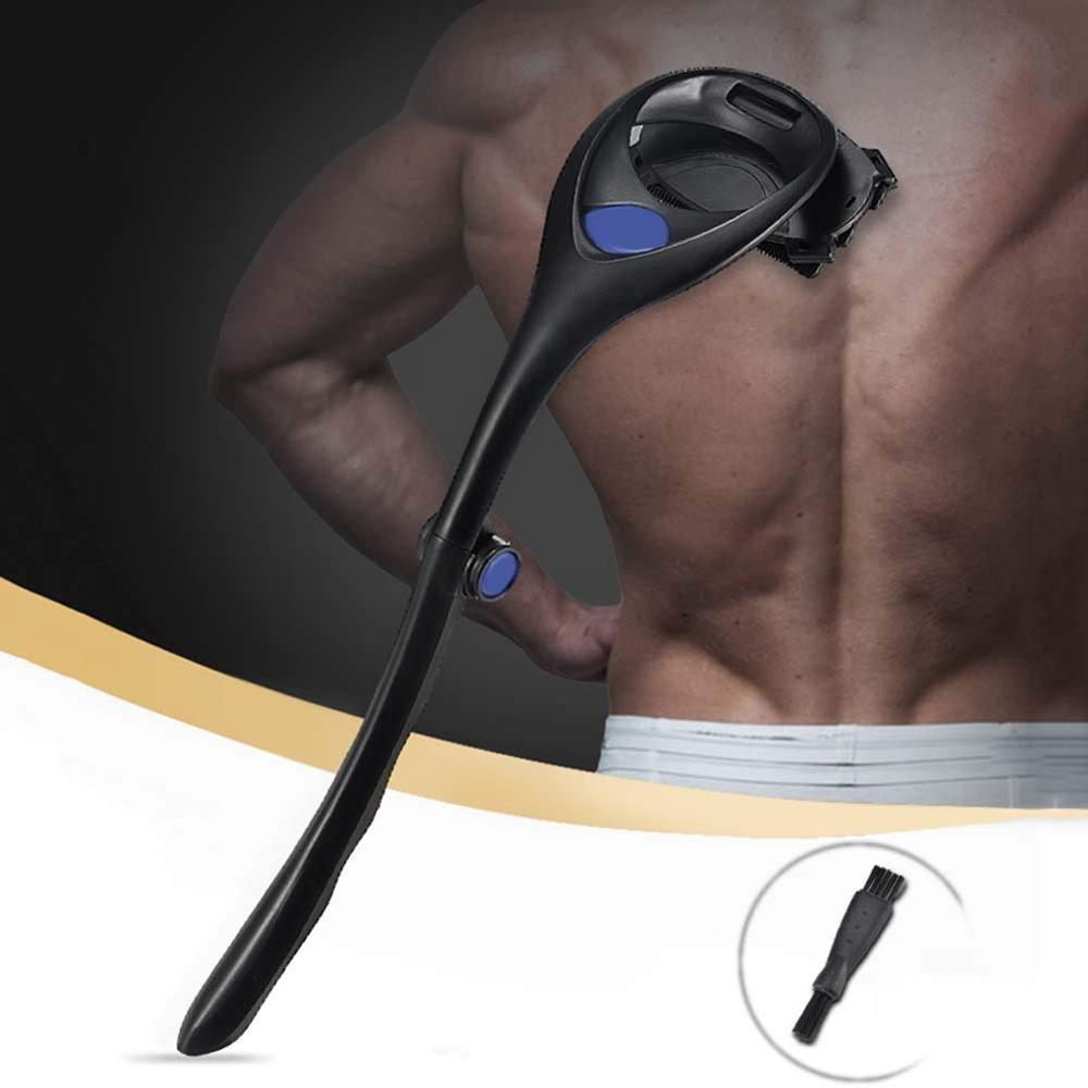 Foldable Back Hair Removal And Body Shaver Machine Cut Hair Safety Razor Manual Hair Shaver Long Handle Hair Remover Tool