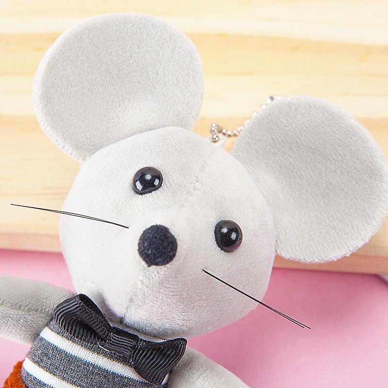1PC חמוד רך בפלאש עכברוש עכבר ממולא צעצועים לילדים חדש שנה קמע אופקי פסים עכבר חדש שנה מתנות ילדי מתנות