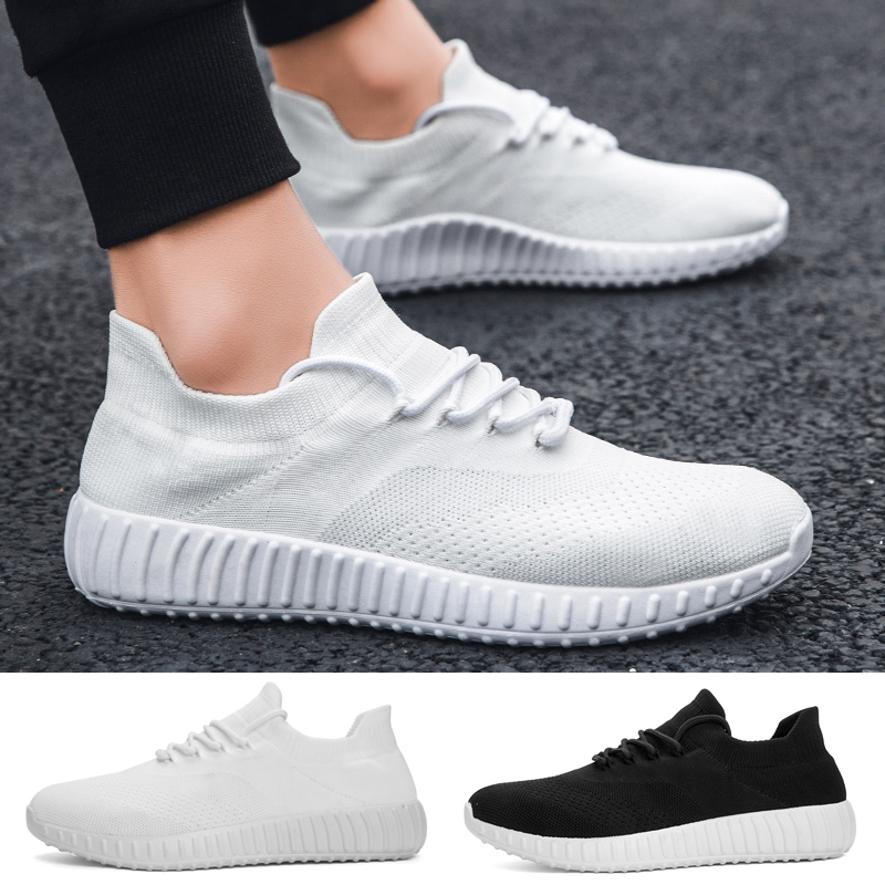 Men Women Casual Walking Shoes Fashion Breathable Lightweight Solid Color Sport Running Shoes