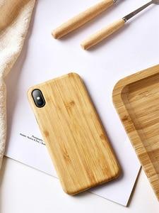Image 2 - Yerli doğa gerçek bambu telefon iphone için kılıf 11 Pro Max XS MAX XR XS X kapak