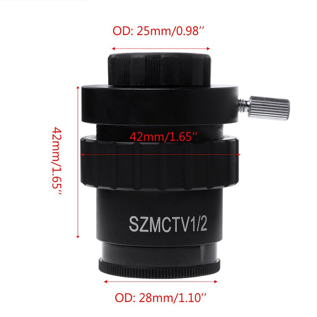 0.3X CMount Adapter Reduce Lens for Trinocular Stereo Microscope 1//3 CTV CCD